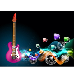 guitar music vector image