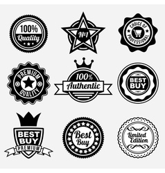 Set of premium quality labels vector image vector image
