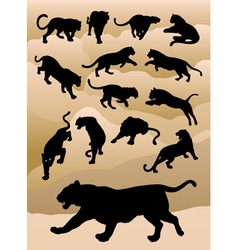 Tiger Silhouettes vector image