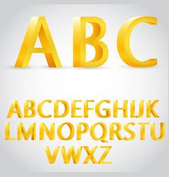 3d golden alphabet vector