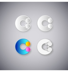 Abstract combination letter c vector