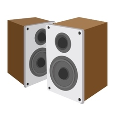 Acoustic speakers cartoon icon vector image