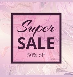 Banner super sale vector