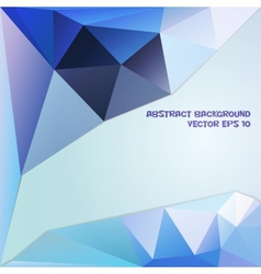 Blue and violet abstract geometric background vector image
