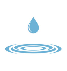 Blue drop water and whirlpool logo template vector