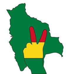 Bolivia hand signal vector image