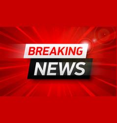 breaking news background world global tv news vector image