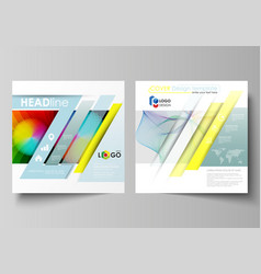 business templates for square brochure flyer vector image