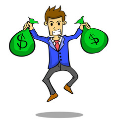 Businessman with money style design vector