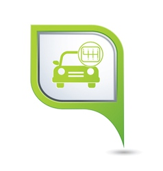 cars transmission GREEN pointer vector image