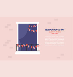 Celebration independence day america at home vector