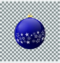 christmas ball - blue - decorated design vector image