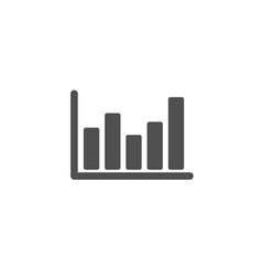 column chart simple icon financial graph vector image