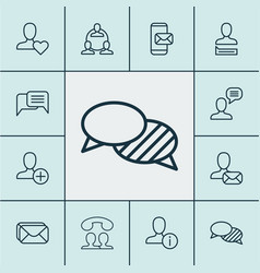 communication icons set collection of call vector image