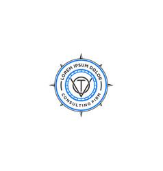 Compass logo - consulting logo - nautical logo vector