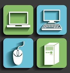 Computers concept design vector