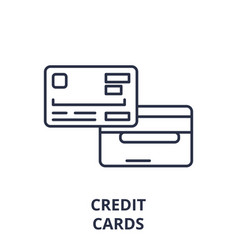 credit card line icon concept credit card vector image