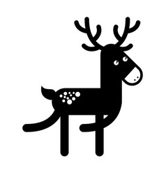 cute reindeer christmas icon vector image