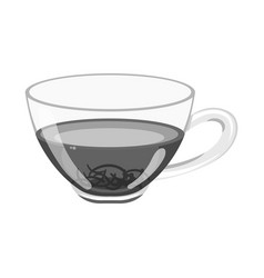 design glass and hibiscus logo web vector image