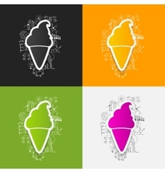 Drawing business formulas ice vector image