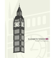 Elizabeth tower clock big Ben vector