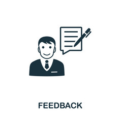 feedback icon symbol creative sign from vector image