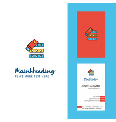 files copy creative logo and business card vector image