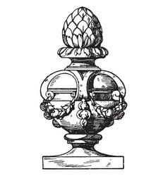 Finial modern vase medals vintage engraving vector