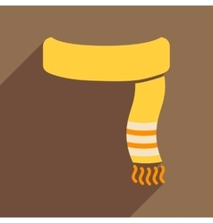 Flat icon with long shadow Warm scarf vector