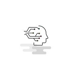 Flat robotics icon vector