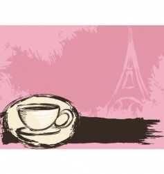 French coffee background vector image
