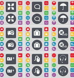 Full screen Chat bubble Umbrella Projector vector image