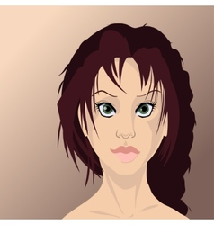 Girl face in high quality vector image