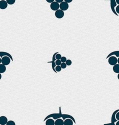 Grapes icon sign Seamless pattern with geometric vector image