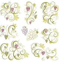 Grapevine motifs vector