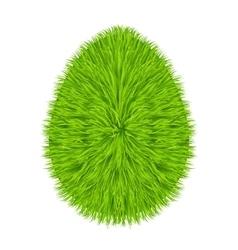 Grass egg symbol vector image