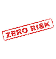 Grunge zero risk rounded rectangle stamp vector