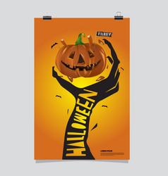 Happy halloween poster halloween party vector