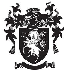Heraldic silhouette No34 vector