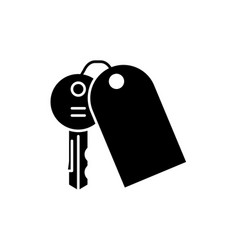 house keys black icon sign on isolated vector image