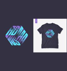 Humans graphic mens three dimensional t-shirt vector