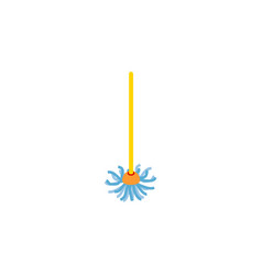 Isolated besom flat icon broomstick vector