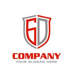 Letter gd logo design vector