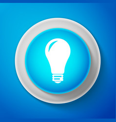 light bulb icon isolated on blue background vector image