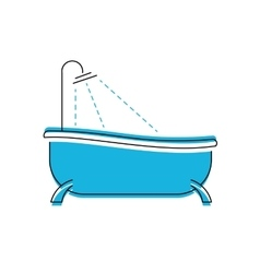 Logo of bath Bathroom shower icon vector