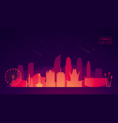 Los angeles skyline buildings vector