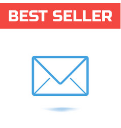 mail icon the symbol for your web site design or vector image