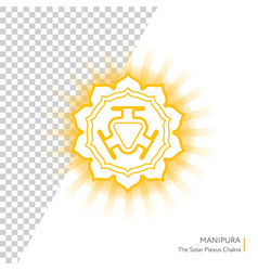manipura - chakra of human body vector image