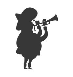 Mariachi musician icon silhouette vector