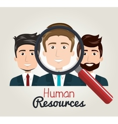 Men cartoon human resources search find vector